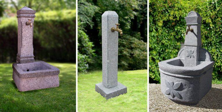 Granit-Trogbrunnen