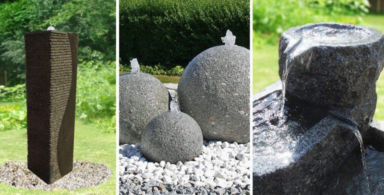 Granit-Brunnensteine