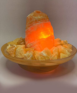 Orangencalcit-Brunnen