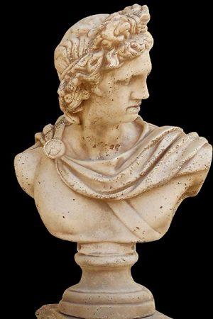 """Gartenfigur """"Busto Apollo"""" antiquariato IP"""