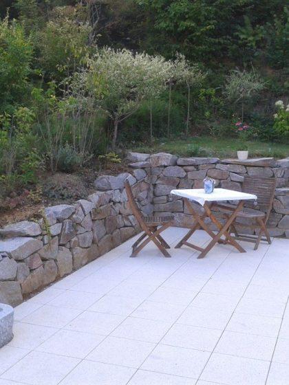 Granit-Trogbrunnen Rocky Mountain Grau