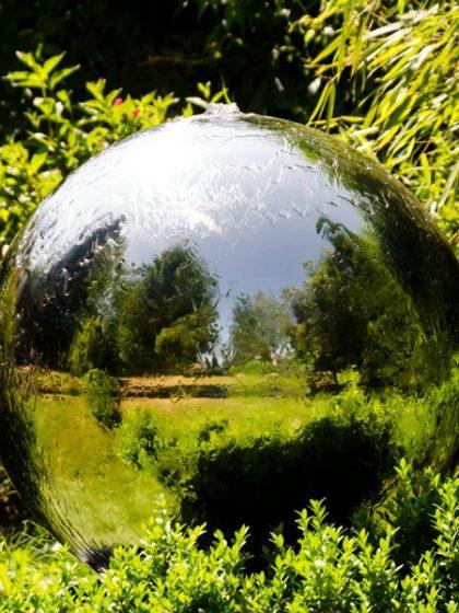 """Edelstahl-Kugelbrunnen """"World 40 cm"""""""
