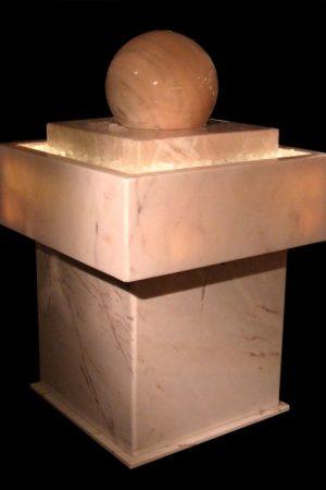 Kugelbrunnen  Marmor- Soft-Rosè, d:36cm