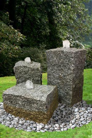 Granit-Gartenbrunnen Stonehenge