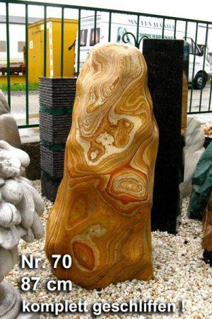 Regenbogen Sandstein Nr 70 - 89 cm geschliffen