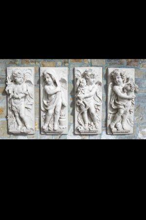 "Wandelementset ""Serie Quattro Stagioni In Altorilievo"" IP"
