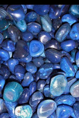 Achat (blau eingefärbt)