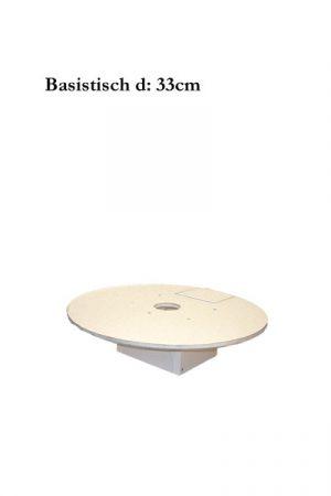 Hartschaum Basistisch d:33cm
