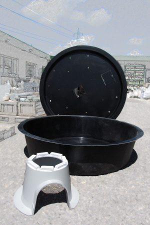 GFK-Becken rund d: 150cm inkl. Stützelement