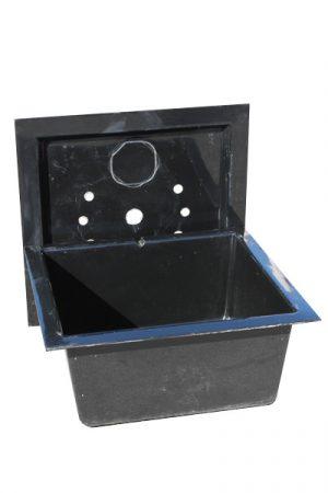 Glasfaser Kunststoff Becken 100x100 cm