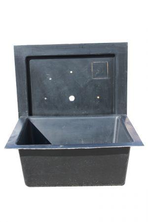 Glasfaser-Kunststoff-Becken 120x120 cm