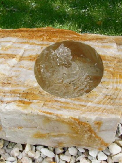 Gartenbrunnen Flat-Rock Ägäis-Gelb