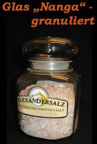 "Alexander - Speisesalz, im Glas ""Nanga"", granuliert"