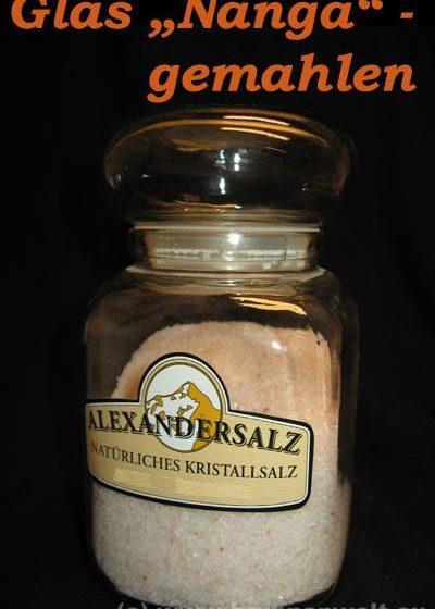 """Alexander - Speisesalz, im Glas """"Nanga"""", gemahlen"""