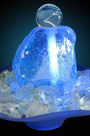 """Glas-Kugelbrunnen """"Arktica"""""""