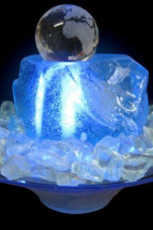 """Glas-Kugelbrunnen """"Arktica 8 cm"""""""