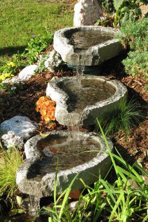 Granit-Bachlauf 3-teilig