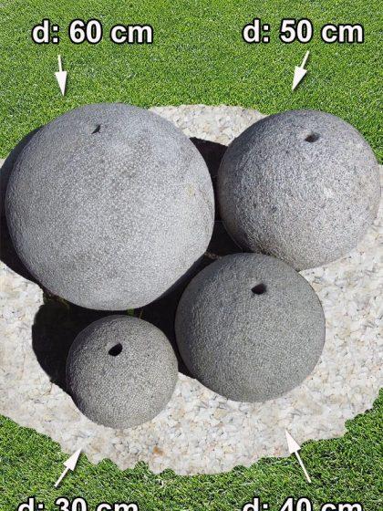 Granit-Quell-Kugel, gestockt, d: 60 cm
