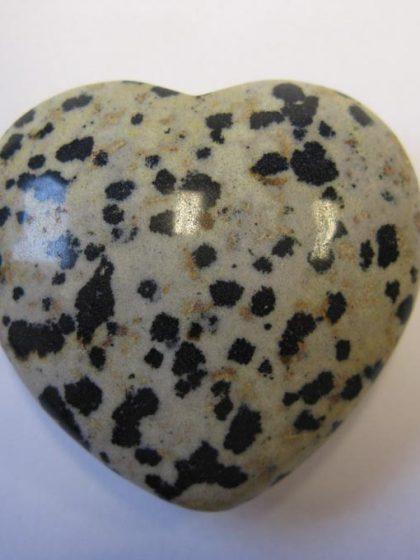 Dalmatiner Jaspis Herz