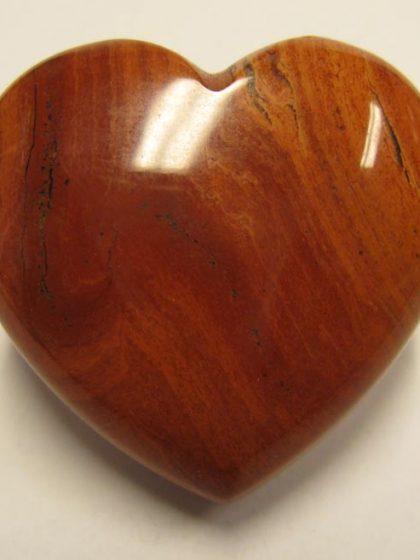 Roter Jaspis Herz