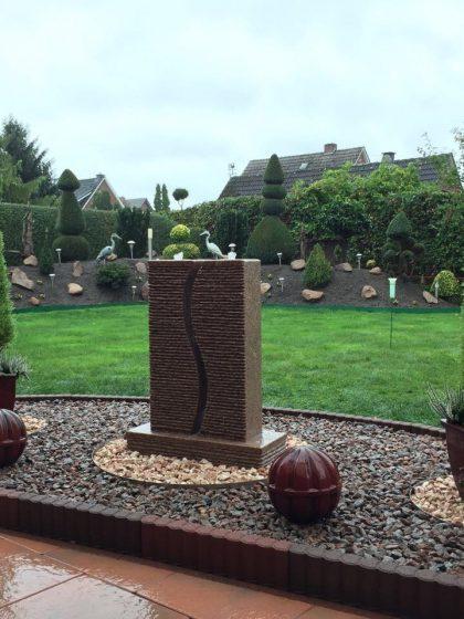 """Granit-Gartenbrunnen """"S-Twin"""""""