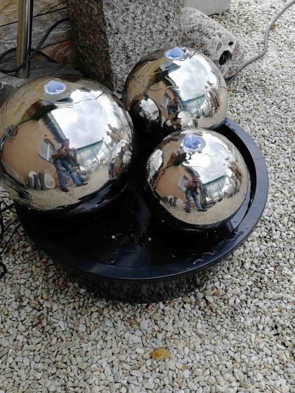 "Edelstahl-Kugelbrunnen ""Cool Trio"""