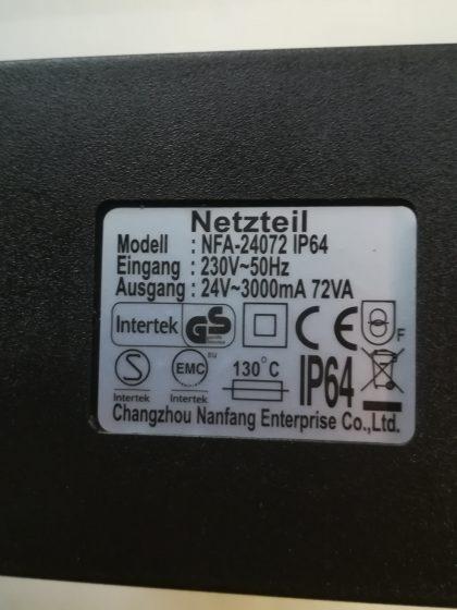 Nebler dreifach, Farbwechsellicht LED's