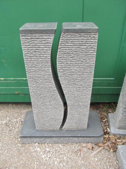 Granitbrunnen S-Twin mit Granitwanne