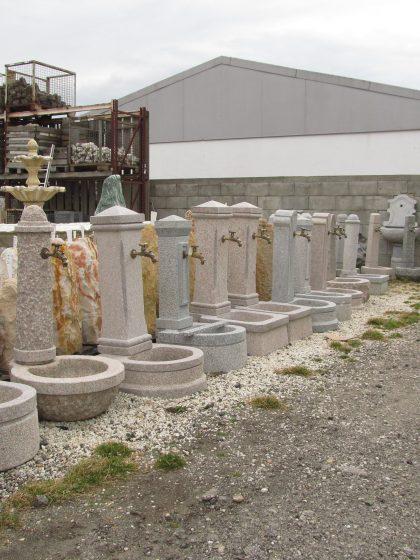 Granit-Gartenbrunnen Klassik-Rosa