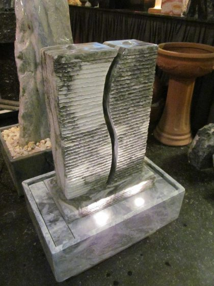 Marmor-Brunnen S-Twin Grey