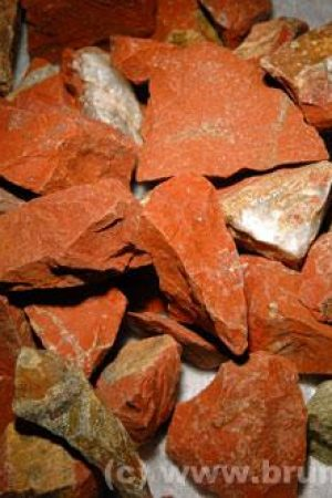 Jaspis rot Brocken