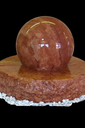 Kugelbrunnen 38 cm - Rosso Verona