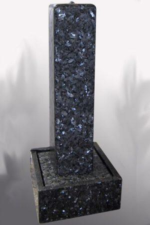 Granit-Stele-Labrador-BluePearl 120 cm