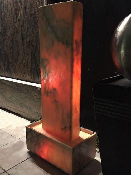 Lichtbrunnen TAVIRA rosa - 108 cm