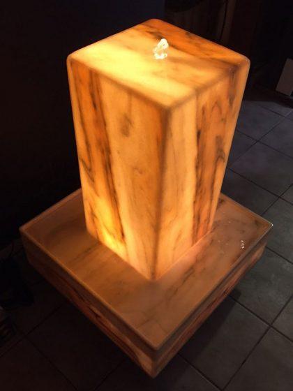 Marmor-Lichtbrunnen Tulcea, 90 cm