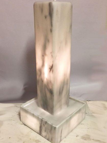 Lichtstele Olympos-White Midi, 70 cm