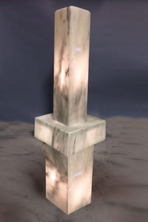 Lichtstele Olympos mit Sockel 102 cm