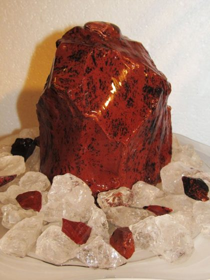 "Mahagoni-Obsidian Brunnen ""Colima"""