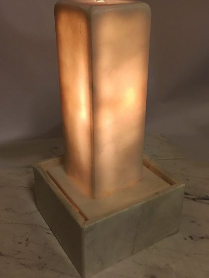 Marmor-Lichtstele Melba 42 cm