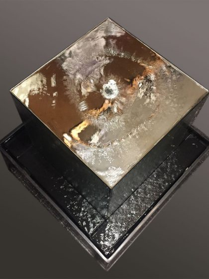 """Designer-Brunnen """"Mirror-Cube"""""""