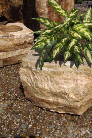 Pflanzenstein Onyx-Caramel