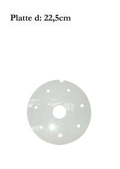 d: 22,5cm Plexiglas-Platte