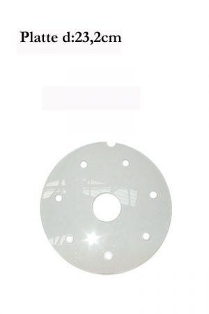 d: 23,2cm Plexiglas-Platte