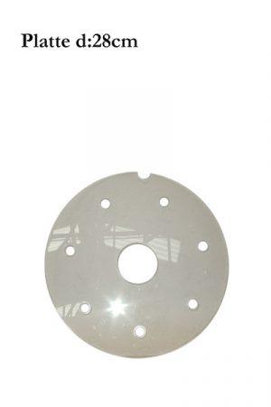 d: 28cm Plexiglas-Platte