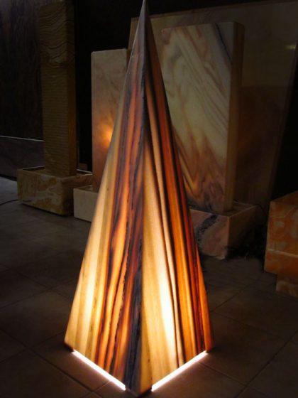 "Pyramidenleuchte ""Sölker Marmor"", 105cm"