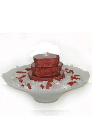 Raconte, Roter Jaspis, Edelsteinbrunnen
