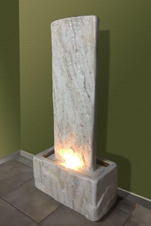 Marmor-Wasserwand Rauris-weiß, 91 cm