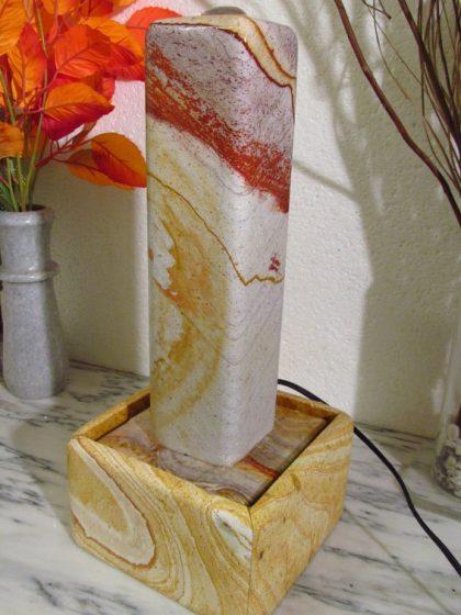 Regenbogen Sandsteinstele 40 cm - gerade