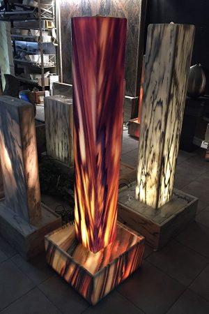 Sölker-Marmor-Lichtstele 140 cm