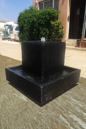 """Schieferbrunnen """"Cube"""" mit Wanne"""